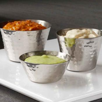 AMMHAMSC4 - American Metalcraft - HAMSC4 - 4 oz Hand Hammered Sauce Cup Product Image