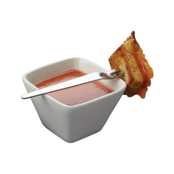 AMMPORB29 - American Metalcraft - PORB29 - 3 in x 2 in Square Porcelain Sauce Cup Product Image