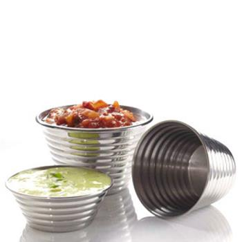 AMMRSC1 - American Metalcraft - RSC1 - 2.5 oz Ribbed Sauce Cup Product Image