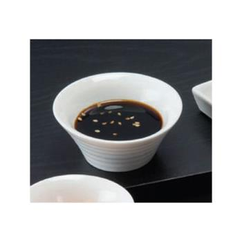 AMMSBR22 - American Metalcraft - SBR22 - 2 oz Ribbed Porcelain Sauce Cup Product Image