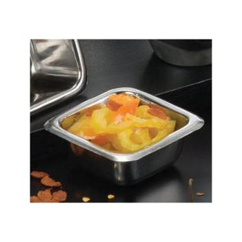 AMMSSC15 - American Metalcraft - SSC15 - 1 1/2 oz Square Stainless Steel Sauce cup Product Image
