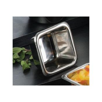 AMMSSC25 - American Metalcraft - SSC25 - 2 1/2 oz Square Stainless Steel Sauce Cup Product Image