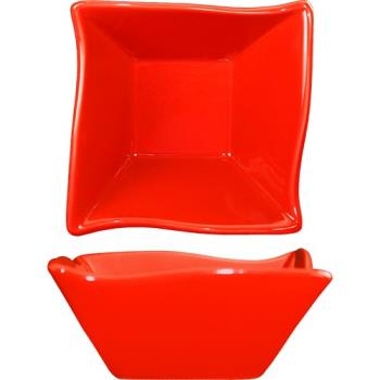 ITWFA11CR - International Tableware - AS-11-CR - 11 oz Aspekt™ Crimson Red Wave Fruit Dish Product Image