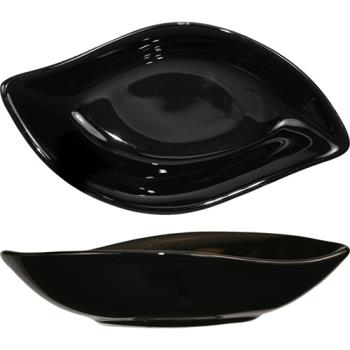 ITWFAW5B - International Tableware - FAW-5-B - 2 1/2 oz Black Leaf Bowl Product Image