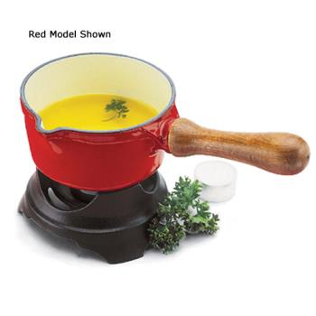 WORA1713014 - World Cuisine - A1713014 - Chasseur 1/2 qt Red Butter Warmer Product Image