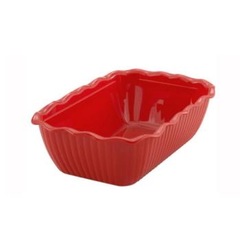 WINCRK10R - Winco - CRK-10R - 10 in x 7 in x 3 in Red Deli Crock Product Image
