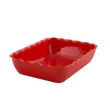 WINCRK13R - Winco - CRK-13R - 13 in x 10 in x 3 in Red Deli Crock Product Image