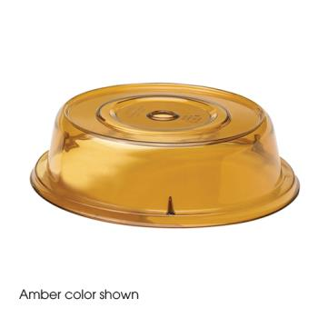 "CAM900CW153 - Cambro - 900CW - Camwear® Camcover® Round 9 1/8"" Amber Plate Cover Product Image"