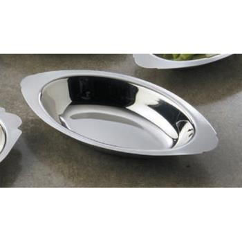 AMMAO120 - American Metalcraft - AO120 - 12 oz Oval Stainless Steel Au Gratin Dish Product Image