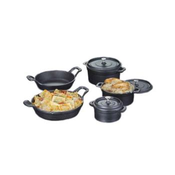AMMCIPR6250 - American Metalcraft - CIPR6250 - 6 1/4 in Round Cast Iron Casserole Product Image