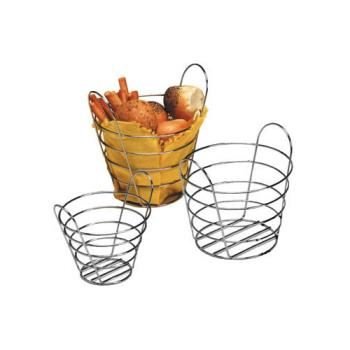AMM705NH - American Metalcraft - 705NH - 7 in x 5 in Round Chrome Wire Basket w/o Handles Product Image
