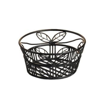 AMMBLLB94 - American Metalcraft - BLLB94 - Ironworks™ 9 in Round Leaf Wrought Iron Bread Basket Product Image