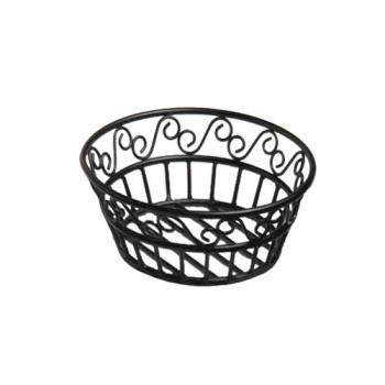 AMMBLSB80 - American Metalcraft - BLSB80 - Ironworks™ 8 in Round Scroll Wrought Iron Bread Basket Product Image