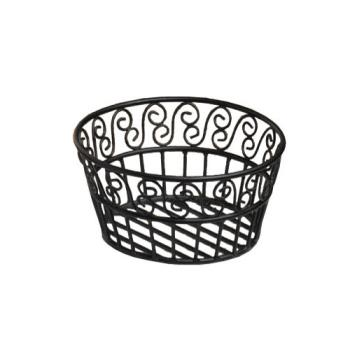 AMMBLSB93 - American Metalcraft - BLSB93 - Ironworks™ 9 in Round Wrought Iron Bread Basket Product Image
