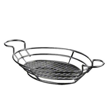 AMMBSKB811 - American Metalcraft - BSKB811 - Oval Black Wire Basket w/Ramekin Holders Product Image