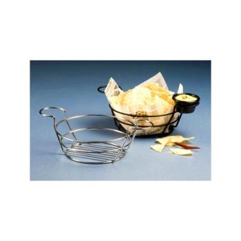 AMMBSKC08 - American Metalcraft - BSKC08 - Round Chrome Wire Basket with Ramekin Holders Product Image
