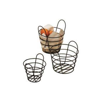 AMMBWB750 - American Metalcraft - BWB750 - 7 in x 5 in Round Black Wire Basket Product Image
