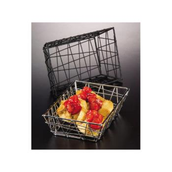 AMMBZZ95B - American Metalcraft - BZZ95B - 9 in x 6 in Black Zorro Basket Product Image