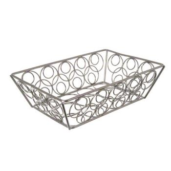"AMMEBB95C - American Metalcraft - EBB95C - 9"" x 6"" Chrome Loop Basket Product Image"