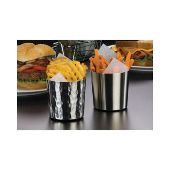 AMMFFHM37 - American Metalcraft - FFHM37 - Ironworks™ 3 3/8 in Hammered Stainless Fry Cup Product Image
