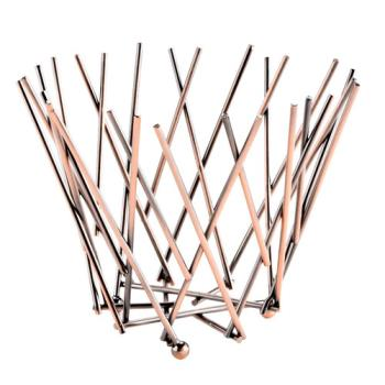 AMMFRU5 - American Metalcraft - FRU5 - Tall Copper Thatch Basket Product Image