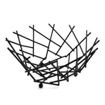 AMMFRUB12 - American Metalcraft - FRUB12 - 8 in Black Thatch Basket Product Image