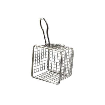 AMMFRYS443 - American Metalcraft - FRYS443 - Mini 4 in x 4 in Stainless Steel Fry Basket Product Image