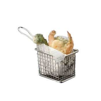 AMMFRYT433 - American Metalcraft - FRYT433 - Mini 4 in x 3 in Stainless Steel Fry Basket Product Image