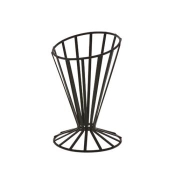AMMFWB4 - American Metalcraft - FWB4 - 4 1/2 in Flat Coil Slanted Conical Basket Product Image