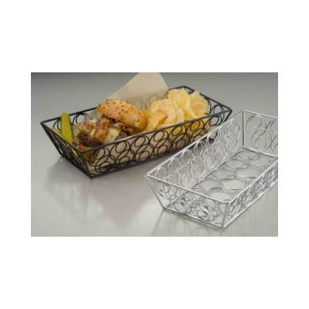 AMMLDLC1362 - American Metalcraft - LDLC1362 - 13 in x 6 in Chrome Loop-D-Loop Basket Product Image