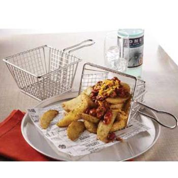 AMMMSQBSKT - American Metalcraft - MSQBSKT - S/S Mini Square Fry Basket Product Image