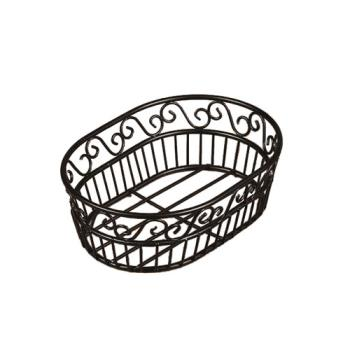 AMMOSC9 - American Metalcraft - OSC9 - Ironworks™ Oval Scroll Wrought Iron Bread Basket Product Image
