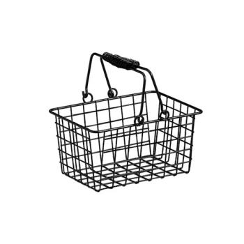 AMMRBHB975 - American Metalcraft - RBHB975 - 9 in x 7 in x 5 in Black Wire Basket Product Image
