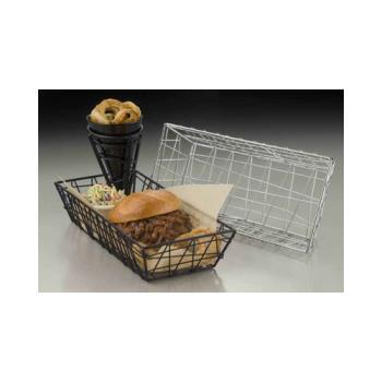 AMMROB2613 - American Metalcraft - ROB2613 - 13 in x 6 in Black Zorro Basket Product Image