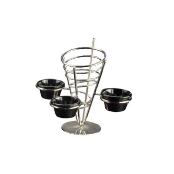 AMMSS93 - American Metalcraft - SS93 - Stainless Steel Fry Basket w/3 Holders Product Image
