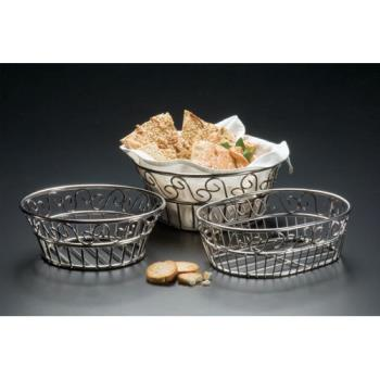 "AMMSSLB94 - American Metalcraft - SSLB94 - Ironworks™ 9"" Round Stainless Steel Bread Basket Product Image"