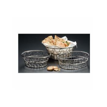 AMMSSOC97 - American Metalcraft - SSOC97 - Ironworks™ 6 3/4 in x 9 in Stainless Bread Basket Product Image