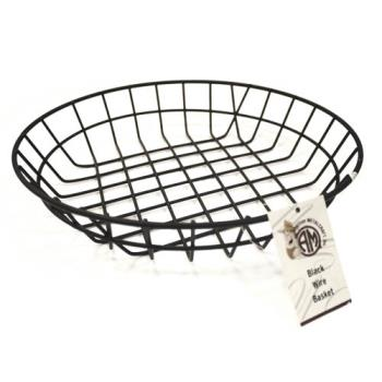 75711 - American Metalcraft - WIB100 - 10 in Round Black Wire Basket  Product Image