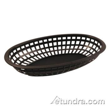 BARCR654BLK - Bar Maid - CR-654BLK - Oval Black Basket Product Image