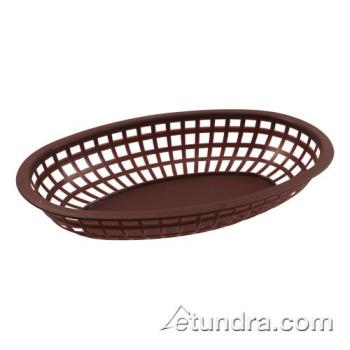 BARCR654BR - Bar Maid - CR-654BR - Oval Brown Basket Product Image