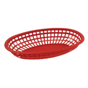 BARCR654R - Bar Maid - CR-654R - Oval Red Basket Product Image