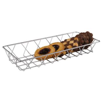 ESP06110S - Espresso Supply -80100 - 14 in x 6 in Sliver Pastry Basket Product Image