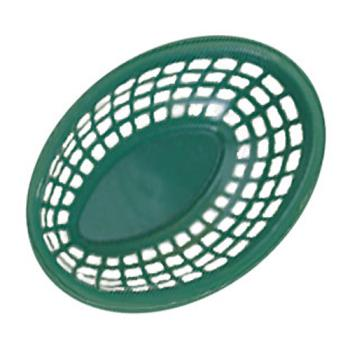 GETOB734G - GET Enterprises - OB-734-G - 7 3/4 in Green Oval Basket Product Image