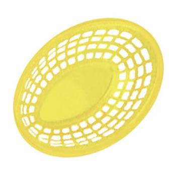 GETOB734Y - GET Enterprises - OB-734-Y - 7 3/4 in Yellow Oval Basket Product Image