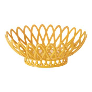 GETOB940TY - GET Enterprises - OB-940-TY - 10 in x 8 1/2 in Tropical Yellow Oval Basket Product Image