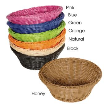 GETWB1501N - GET Enterprises - WB-1501-N - Designer Polyweave Natural 9 1/2 in Round Basket Product Image