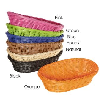 GETWB1505BK - GET Enterprises - WB-1505-BK - Designer Polyweave Black 11 3/4 in Oval Basket Product Image