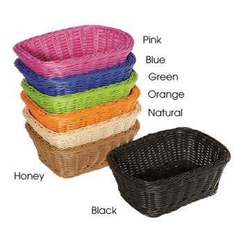 GETWB1506BK - GET Enterprises - WB-1506-BK - Designer Polyweave Black 9 1/2 in Basket Product Image