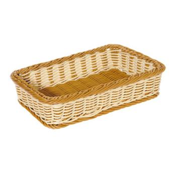 75496 - GET Enterprises - WB-1513-TT - Designer Polyweave Two-Tone 17 1/2 in x 11 1/2 in Basket Product Image