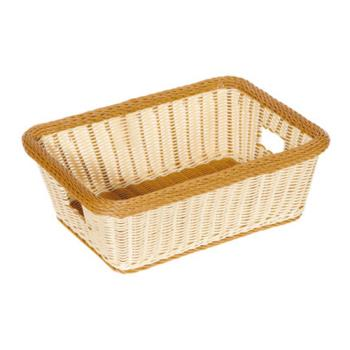 75494 - GET Enterprises - WB-1515-TT - Designer Polyweave Two-Tone 18 1/2 in Basket Product Image